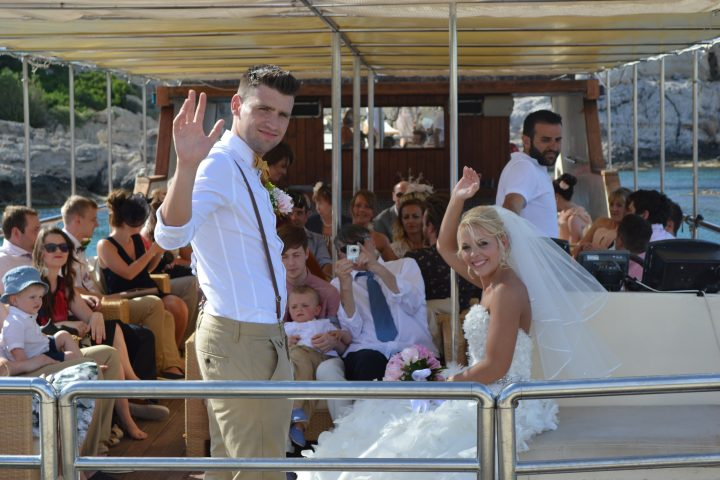 Rhodes wedding cruise